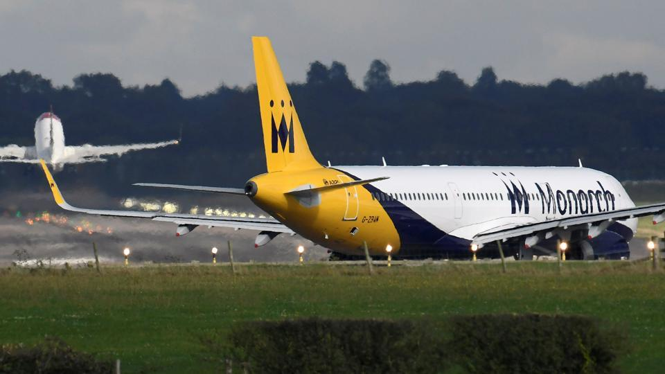A Monarch Airlines passenger aircraft prepares for take off from Gatwick Airport in southern England, Britain, last October.