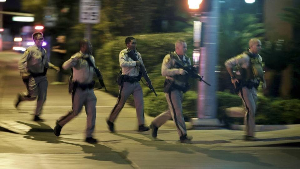 Police believe the suspect was a local Las Vegas man Stephen Paddock who acted alone and was not believed to be connected to any militant group, Clark County Sheriff Joseph Lombardo told reporters. (AP)
