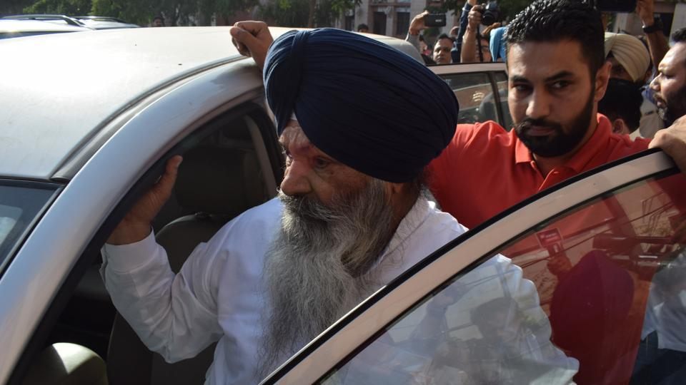 Senior Akali leader Sucha Singh Langah in Chandigarh on Monday.