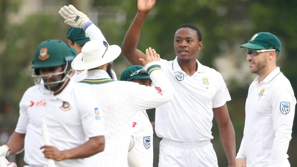 Kagiso Rabada struck thrice on the final day of the first Test as South Africa crushed Bangladesh by 333 runs to take a 1-0 lead in the two-Test series. Get live cricket score and live updates of South Africa vs Bangladesh, 1st Test, Day 5, here.