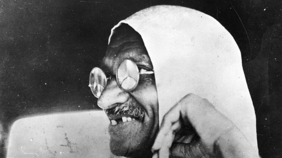 A portrait of Mahatma Gandhi (Mohandas Karamchand Gandhi, 1869 - 1948), Indian nationalist leader, circa 1945. (Keystone / Getty Images)
