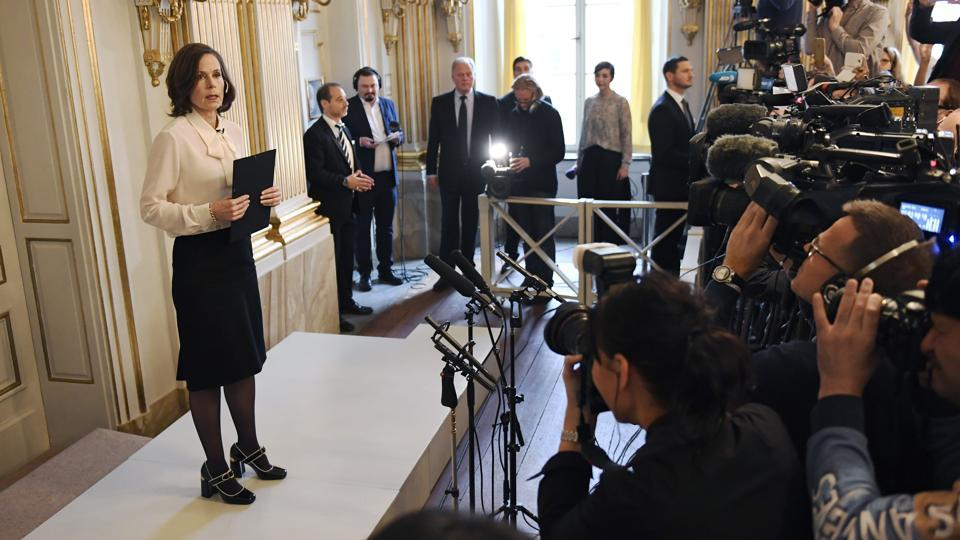 Permanent Secretary of the Swedish Academy Sara Danius announces that Bob Dylan is awarded the 2016 Nobel Prize in Literature during a presser at the Old Stockholm Stock Exchange Building in Stockholm, Sweden, last October. This year's winner will be announced on Thursday, October 5, 2017.