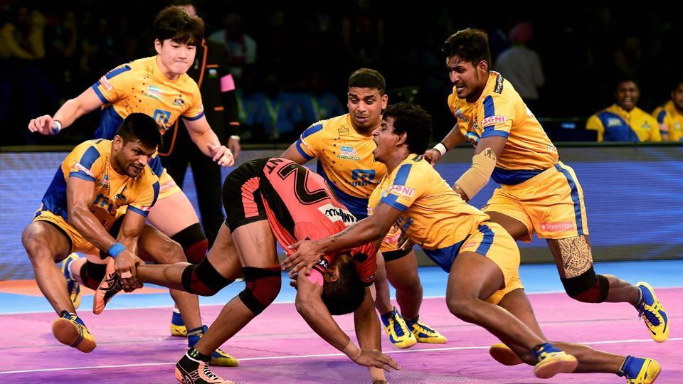 Image result for U Mumba Beat Tamil Thalaivas 33-30