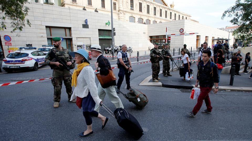 Marseille attack,France train station attack,French anti-terrorist check