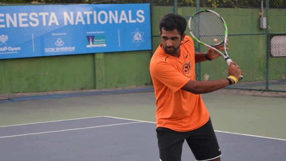 arjun kadhe back with a bang at fenesta open national tennis championship tennis hindustan times. Black Bedroom Furniture Sets. Home Design Ideas