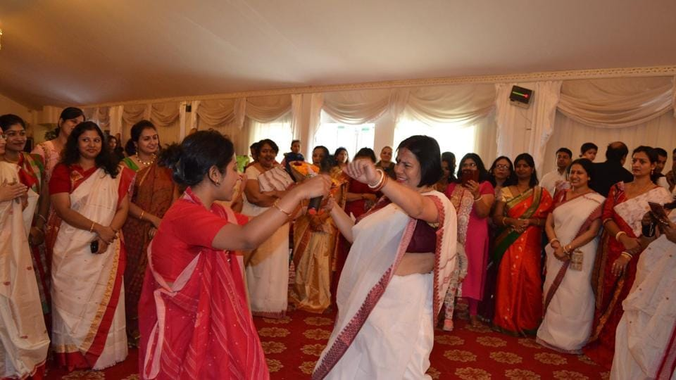 Durga Puja event organised by Prabashi at Houslow in west London.