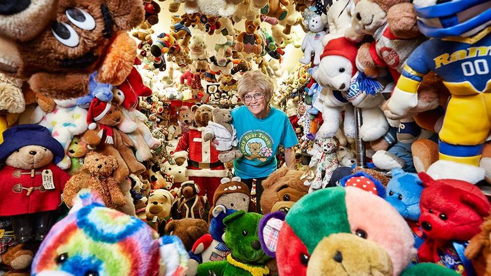 World record for teddy bear collection,Teddy bears,Jackie Miley