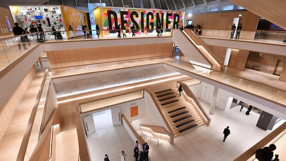 A general view shows the atrium of the new Design Museum in Kensington, London.