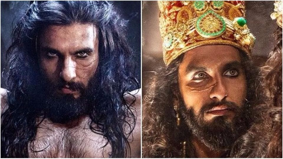 Ranveer Singh as Alauddin Khilji in Sanjay Leela Bhansali's Padmavati. The look was leaked hours before it was supposed to come out.