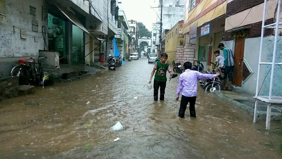 The city received more than 13 centimetres of rainfall in a span of five hours.
