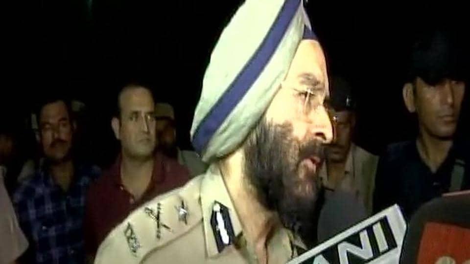 Panchkula police commissioner A S Chawla addressing media.