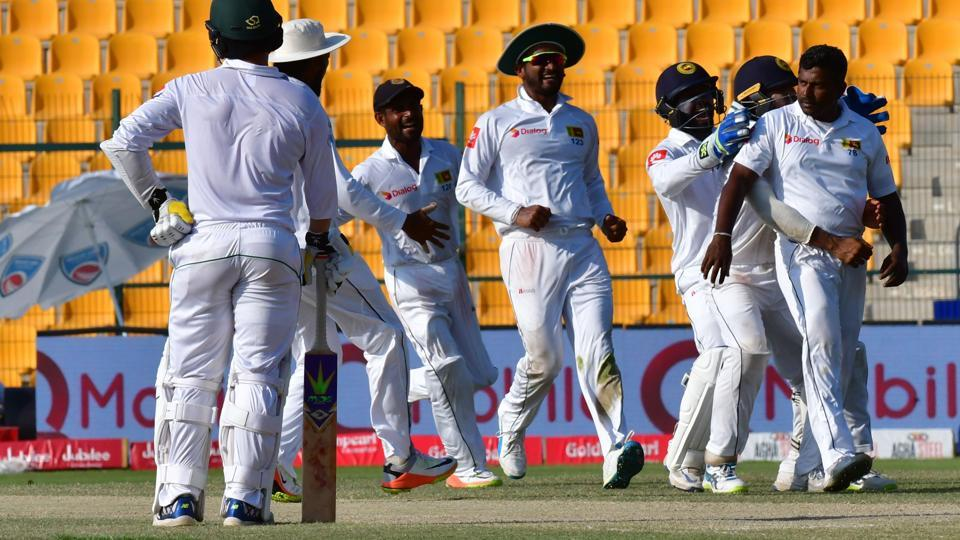 Sri Lankan cricket team defeated Pakistan cricket in the first Test