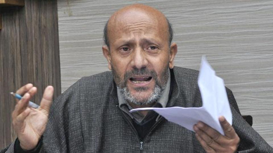 Independent MLA Engineer Abdul Rashid Sheikh in Srinagar.