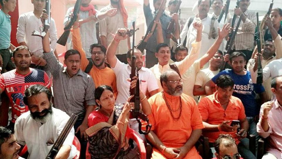 Members of the Shiv Sena said that the administration has failed to set up a proposed shooting range in Niwari, due to which they are forced to do it in other places.