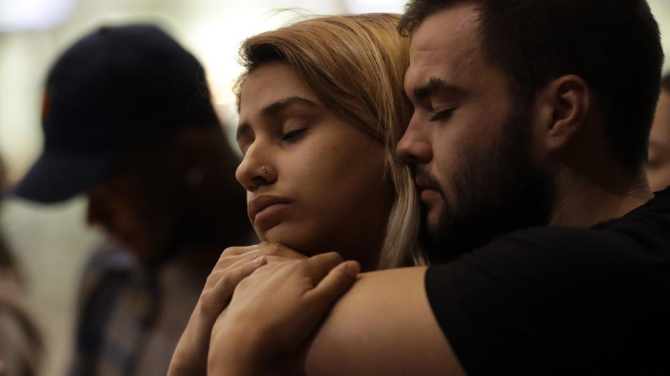 The attack was the worst mass shooting in U.S. history. Previously, the mass shooting at a gay nightclub in Orlando, Florida had the highest number of fatalities with 49 people killed. (Gregory Bull / AP)