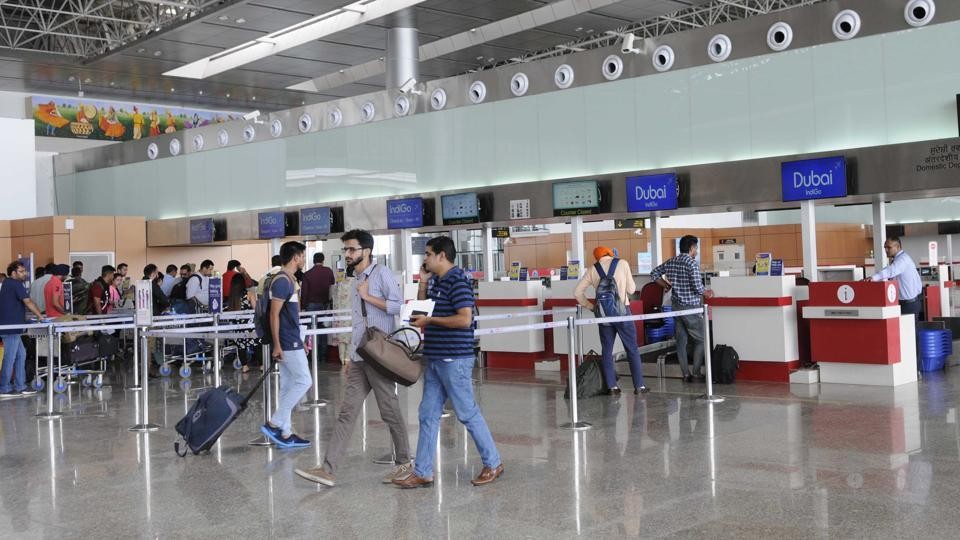 A file photo of the Chandigarh international airport