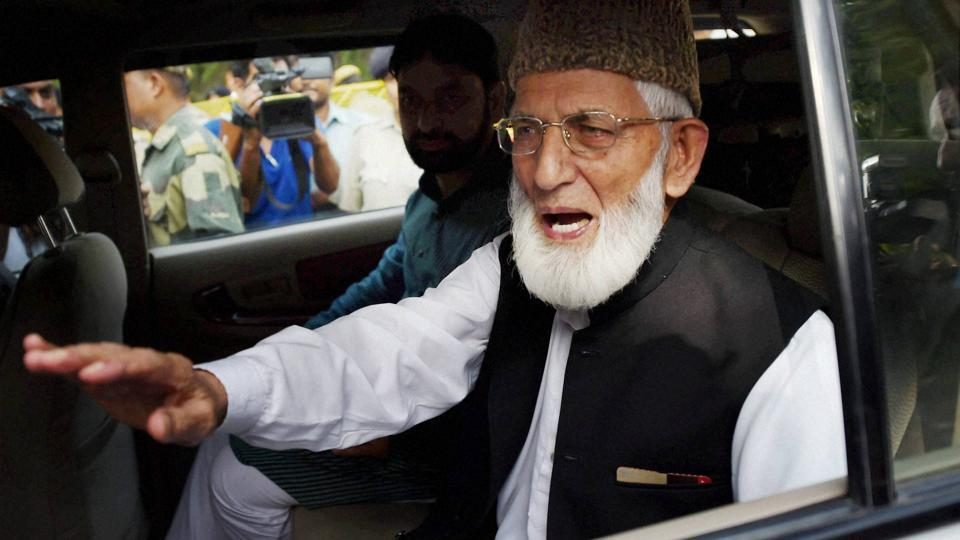 Separatist leader Syed Ali Shah Geelani has sought a complete halt to cross-border hostilities between India and Pakistan.