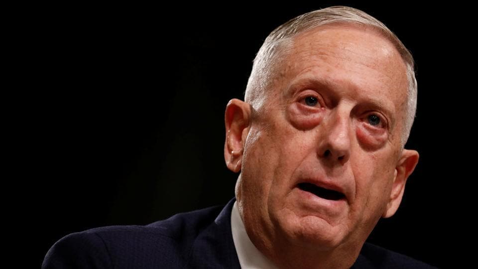 US secretary of fefense James Mattis testifies before a Senate Armed Services Committee hearing on the