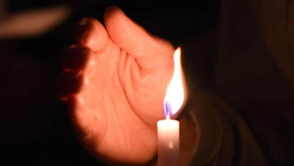 People attend a candlelight vigil at the University of Las Vegas student union  in Las Vegas, Nevada. (AFP)