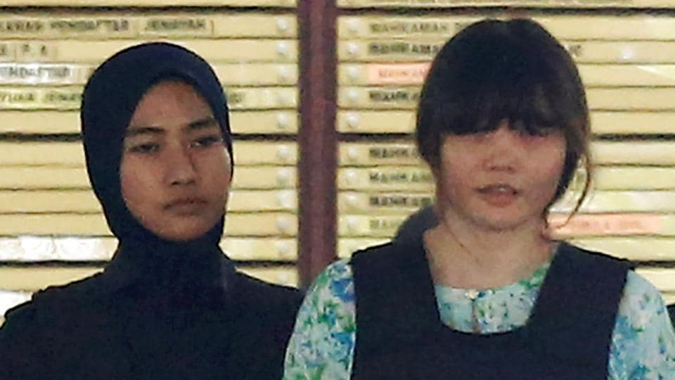 Vietnamese Doan Thi Huong who is on trial for the killing of Kim Jong Nam, the estranged half-brother of North Korea's leader, is escorted as she leaves the Shah Alam High Court on the outskirts of Kuala Lumpur, Malaysia October 3, 2017.