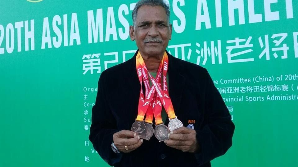 Shivnath, a former Flying Officer of Indian Air Force, won four medals at the 20th Asia Masters Athletics Championships in Rugao, China.