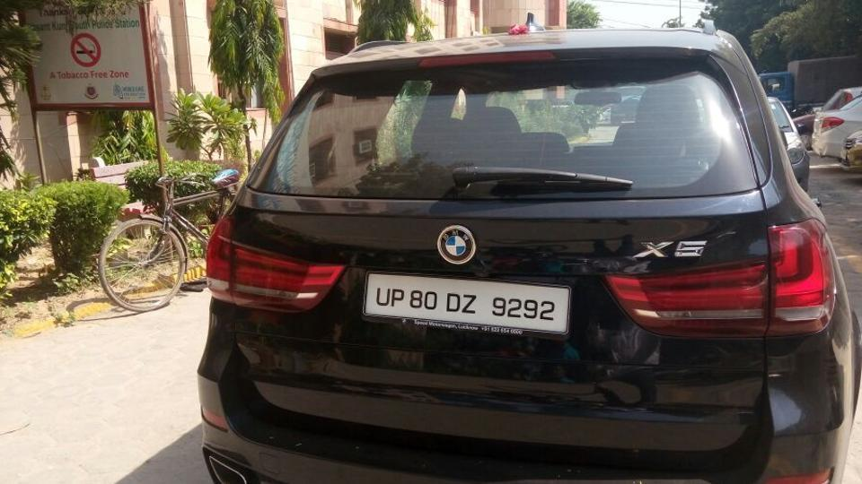 The BMW X5 is registered to a private company in Agra.