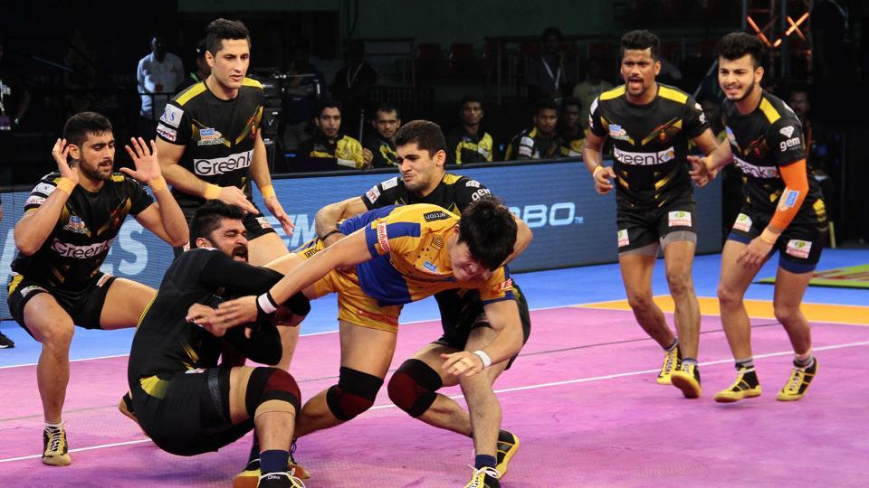Telugu Titans eased to a 58-37 win over Tamil Thalaivas in the Pro Kabaddi League on Tuesday.