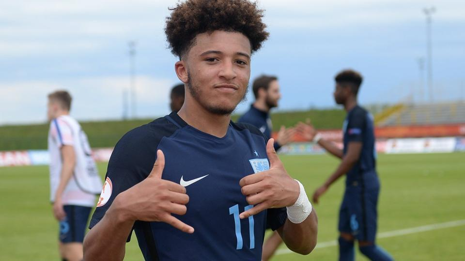 Jadon Sancho has finally joined the England squad for the FIFA U-17 World Cup in India.