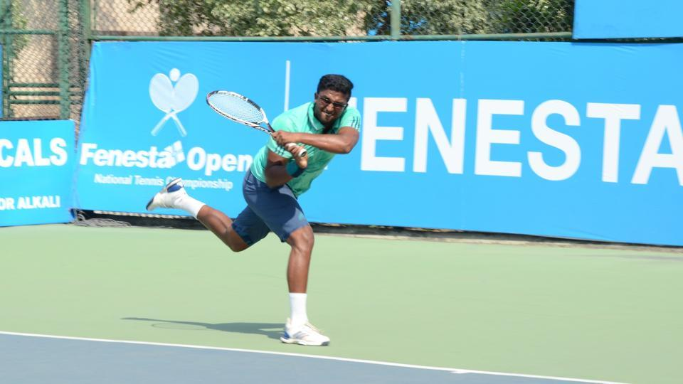 Mohit Mayur Jayaprakash advanced at the Fenesta Open National Tennis Championship with a win on Wednesday.