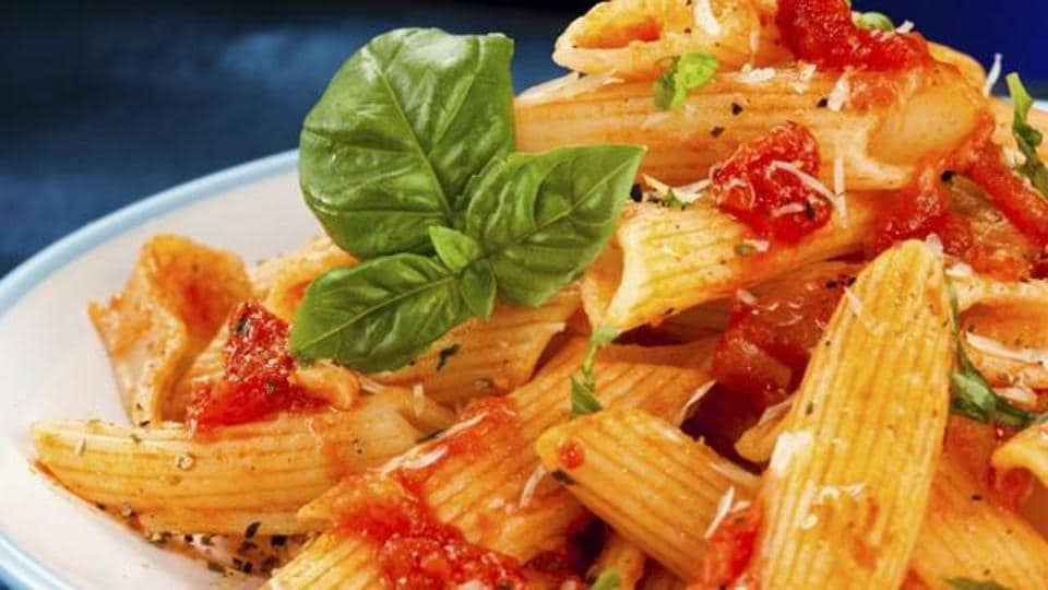 Whole wheat pasta is made up from whole durum wheat semolina.