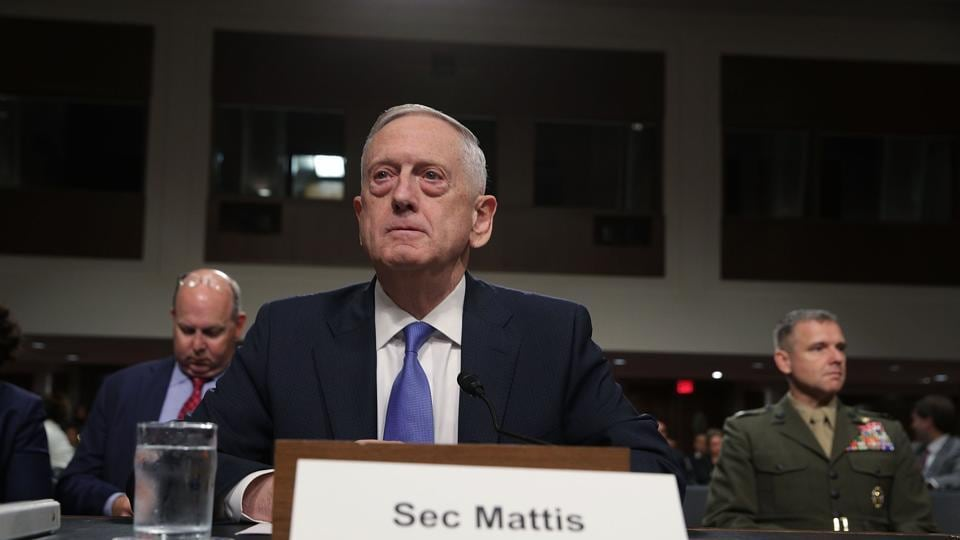 US defence secretary Jim Mattis waits for the beginning of a hearing before the Senate Armed Services Committee on Capitol Hill in Washington on October 3, 2017. The committee held a hearing on the