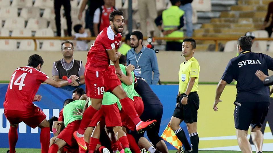 Syria kept their FIFA World Cup qualification hopes alive with a late equaliser against Iran in Tehran last month.