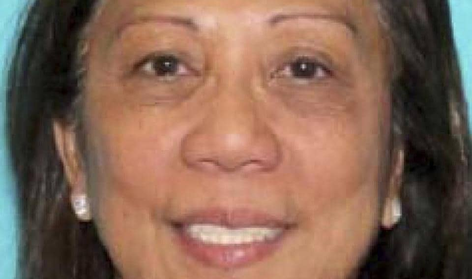 This undated photo provided by the Las Vegas Metropolitan Police Department shows Marilou Danley. Danley, 62, returned to the United States from the Philippines on Tuesday night, Oct. 3, 2017, and was met at Los Angeles International Airport by FBI agents, according to a law enforcement official.