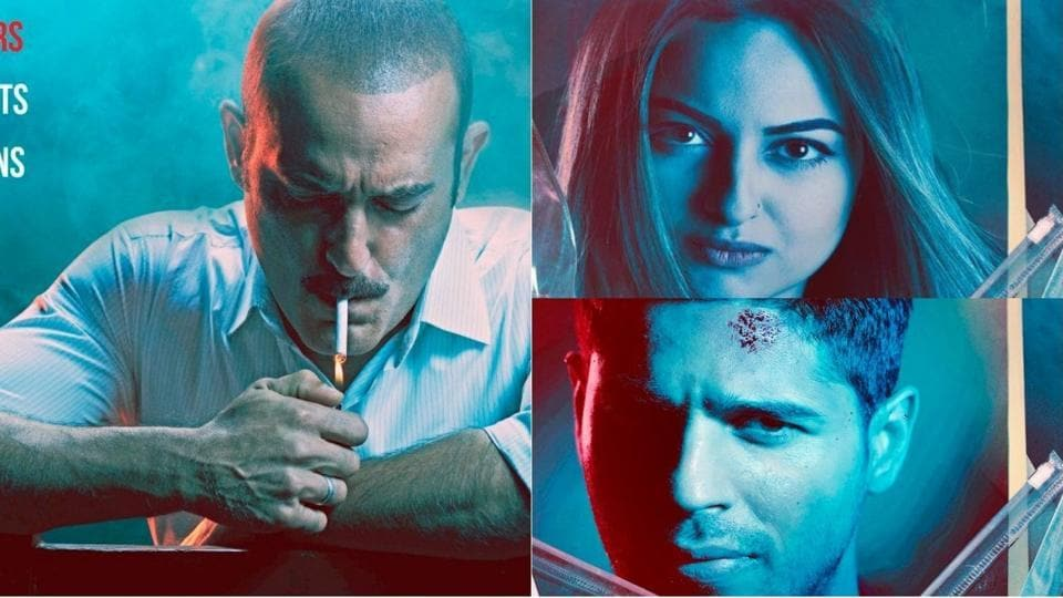 Sonakshi Sinha, Sidharth Malhotra and Akshaye Khanna in first look posters from Ittefaq.