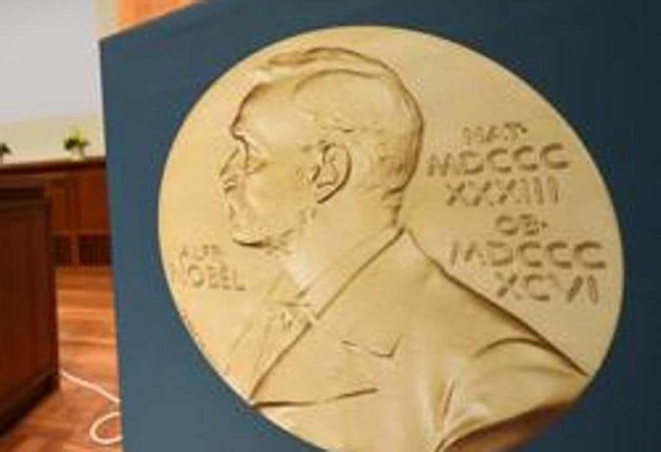 A medal of Alfred Nobel is pictured prior to the beginning of a press conference to announce the winner of the 2017 Nobel Prize in Medicine on October 2 in Stockholm.