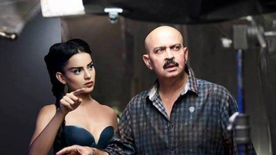 Talking about the Hrithik-Kangana feud, filmmaker Rakesh Roshan has claimed he does not lie or indulge in loose talk. Kangana Ranaut and Rakesh Roshan are seen on the sets of Krrish 3 in this picture.