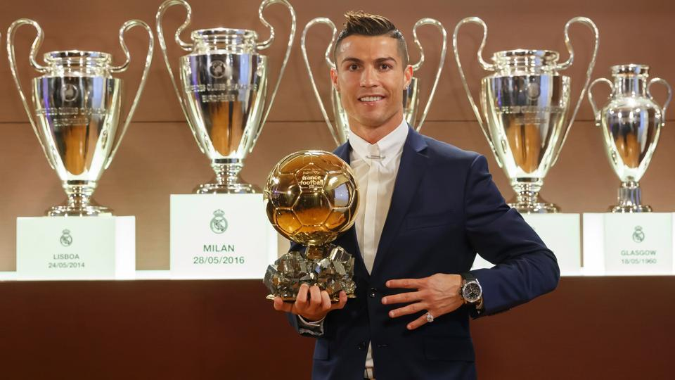 Real Madrid star Cristiano Ronaldo has won the Ballon d'Or as many as four times.
