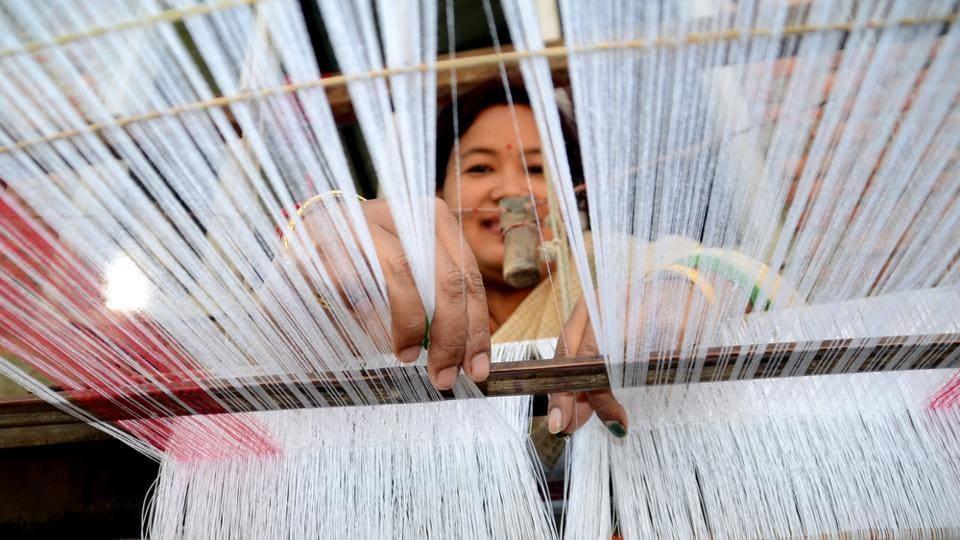 India has a huge handloom industry.