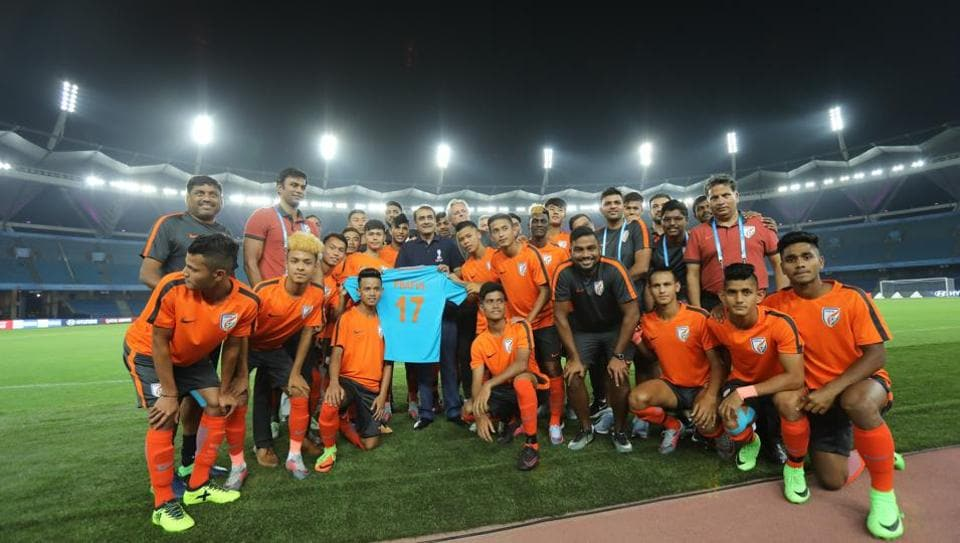 The Indian football team will take on USA in their opening game of the FIFA U-17 World Cup on October 6. (AIFF )