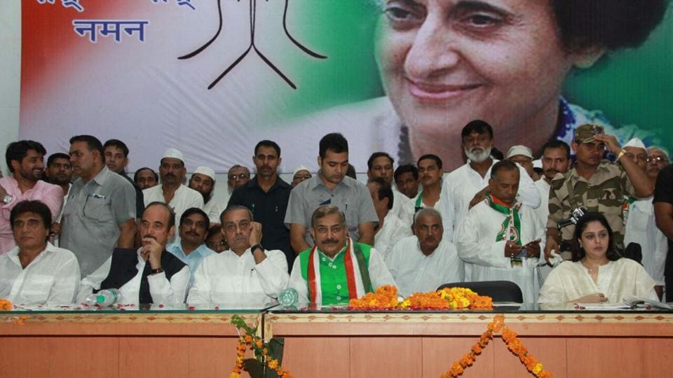 Celebrating former Prime Minister Indira Gandhi's birth centenary year, senior Congress leaders organised a function in UP on Wednesday.