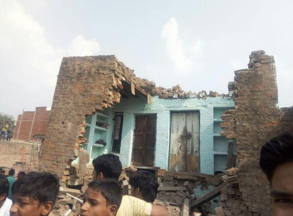 Six houses in the area collapsed and some others developed cracks after the explosion.