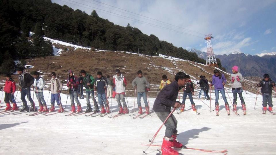 The ski slopes at Auli are a favourite among winter sports lovers in the country.