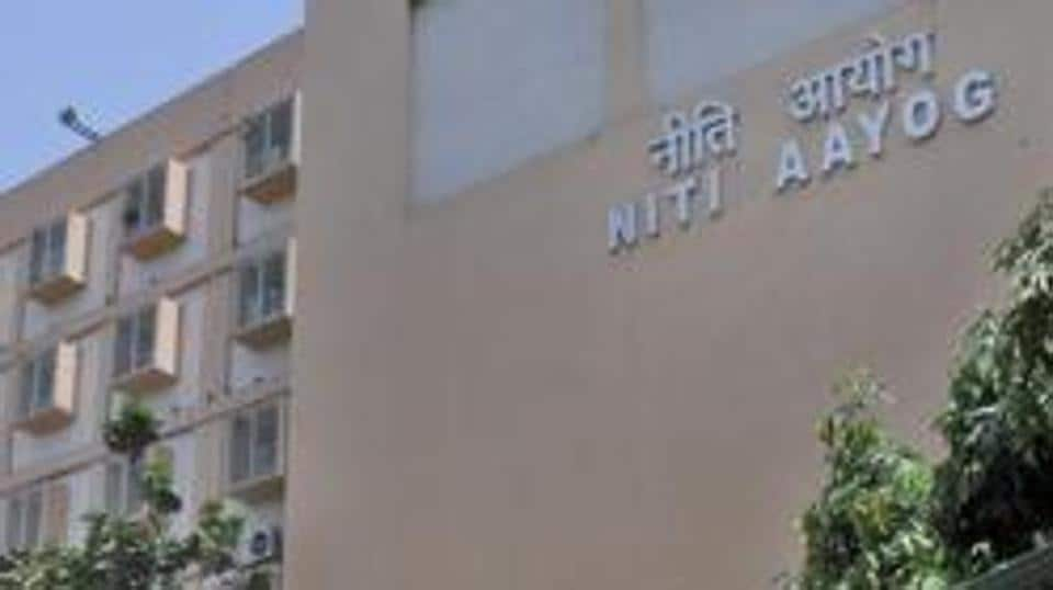 The Niti Aayog building on Parliament Street in New Delhi. Fixing agriculture, revenue generation and increasing the number of jobs are the key focus areas for the think tank, apart from improving social sector indices.