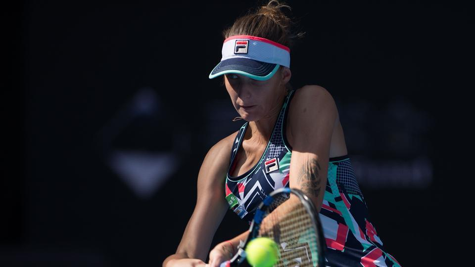 Karolina Pliskova crashed out in the third round of the China Open as she lost 1-6, 5-7 to unseeded Sorana Cirstea.