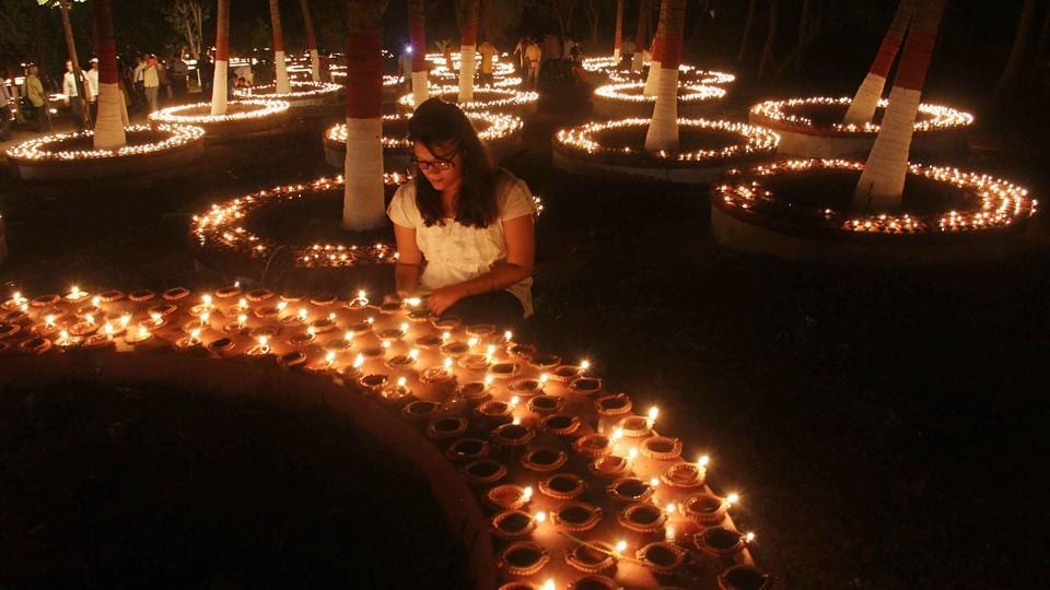 According to Hindu mythology, lights act as reminder for people to stay vigilant. (Pramod Thakur/HT PHOTO)