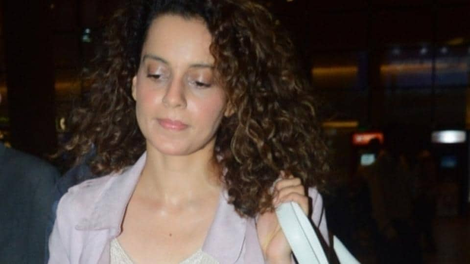 Actor Kangana Ranaut spotted at Chhatrapati Shivaji Maharaj International airport in Mumbai.