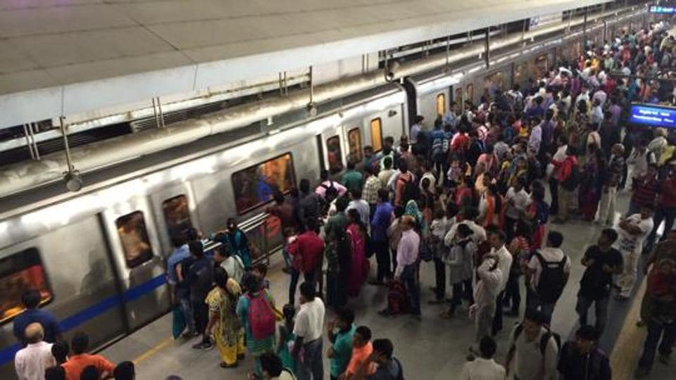 A 56-year-old man jumped in front of a metro train at the Janakpuri West metro station on Thursday and another jumped on the road from the Jhandenwalan metro station