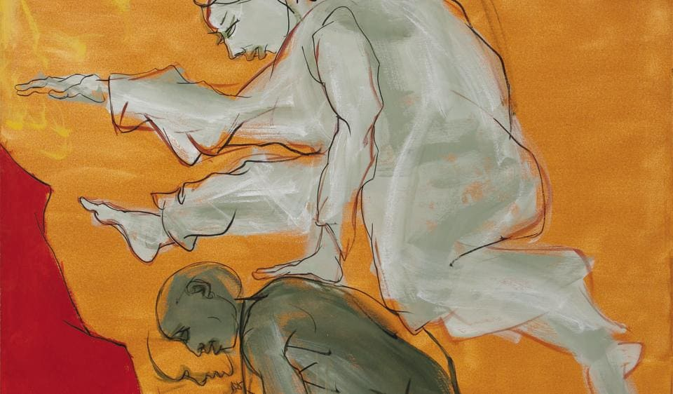 Jatin Das's latest exhibition is all about moving bodies.