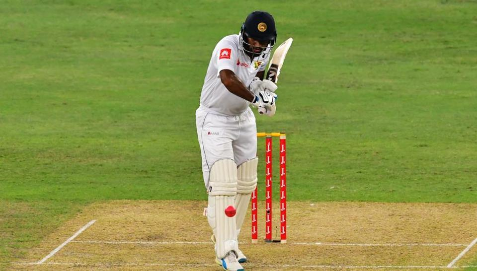 Dimuth Karunarathne's ton put Sri Lanka in a strong position on Day 1 of the second and final (day-night) Test against Pakistan in Dubai.