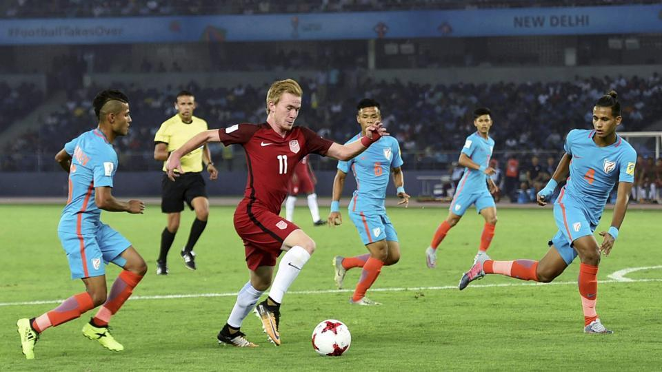 United States of America won their opening game of the FIFA U-17 World Cup 3-0 against hosts India but coach Luis Norton de Matos expressed happiness with the gritty performance of the Indian players.